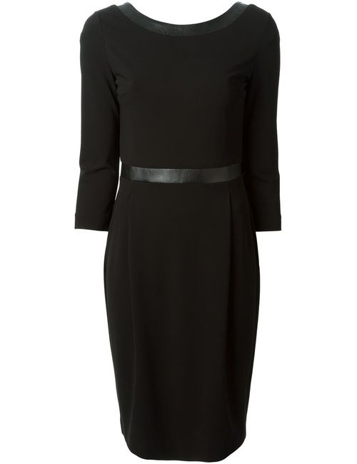Gucci | Женское Черный Leather Detail Dress