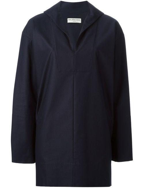 Balenciaga | Женское Синий Long Sleeve Shirt Dress