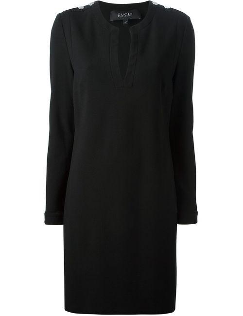 Gucci | Женское Чёрный Shoulder Detail Dress