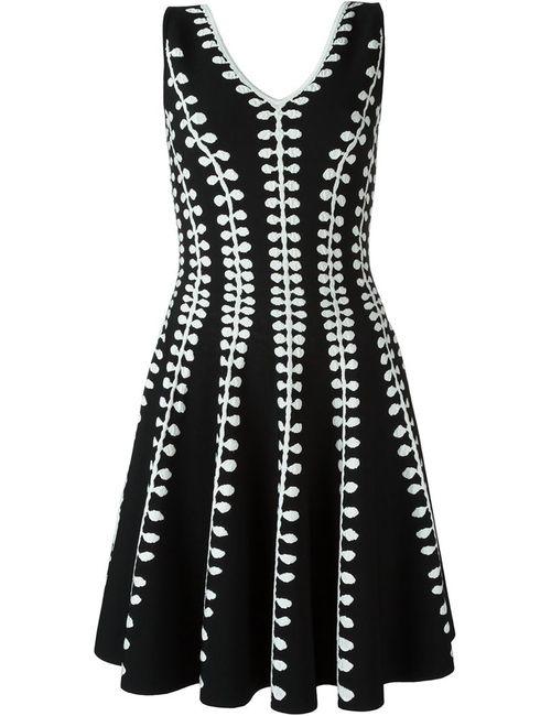 Alexander McQueen | Женское Чёрный Textured Knit A-Line Dress