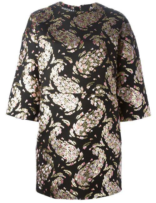 Rochas | Женское Чёрный Brocade Shift Dress