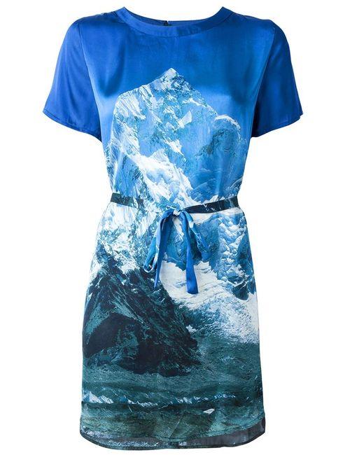 Minimarket | Женское Синее Платье-Рубашка Himalaya