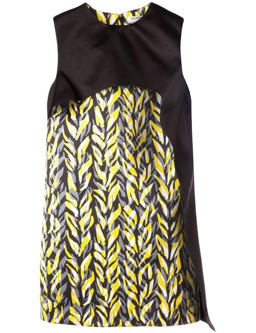 Balenciaga | Женское Чёрный Layered Printed Shift Dress