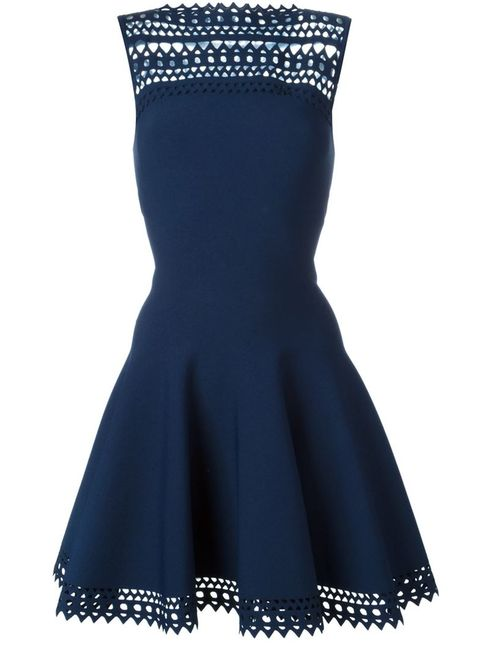 Alaïa | Женское Синий Laser Cut Flared Dress