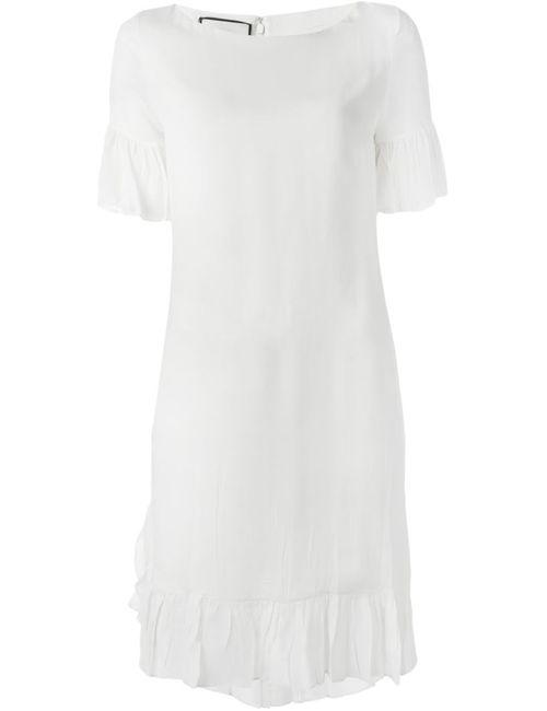 Gucci | Женское Белый Ruffle Detail Dress