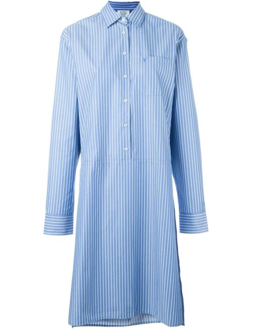 VETEMENTS | Женское Синий Striped Asymmetric Shirt Dress