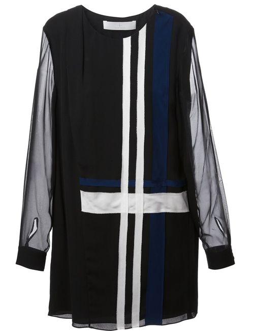 Thakoon Addition | Женское Чёрный Striped Design Short Dress