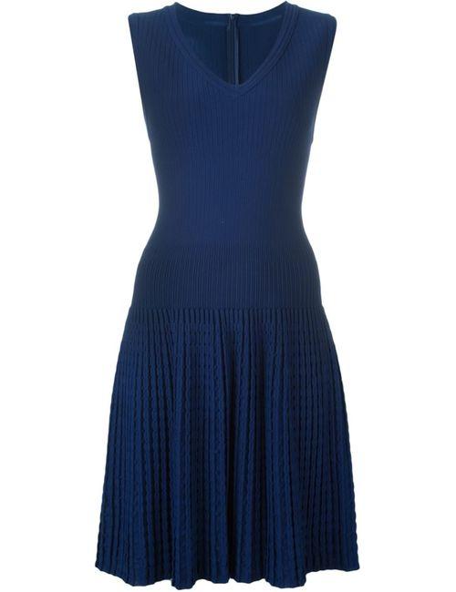 Alaïa   Женское Синий Ribbed Knit Dress