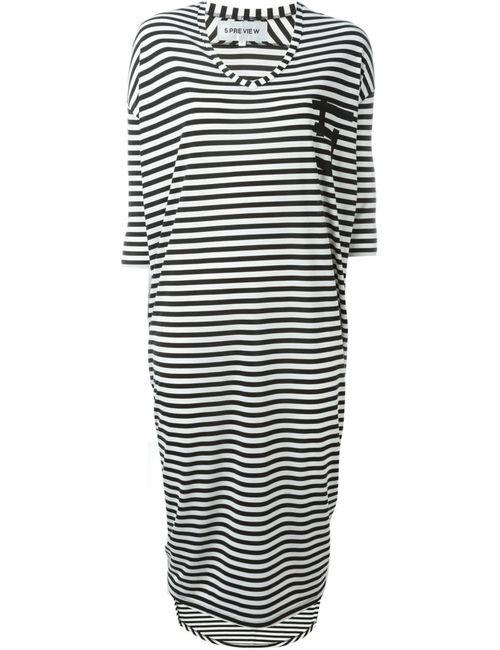 OUTSOURCE IMAGES | Женское Чёрный Katy Striped Dress