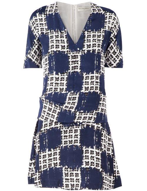 Balenciaga   Женское Синий Printed Shift Dress