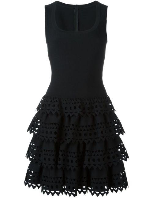 Alaïa | Женское Чёрный Laser Cut Ruffle Dress