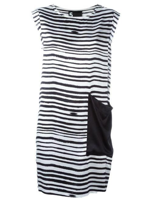 OUTSOURCE IMAGES | Женское Черный Printed Shift Dress