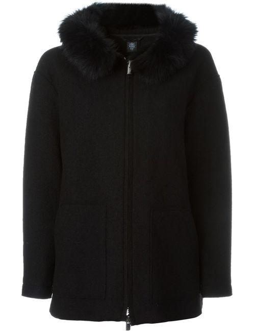 Eleventy   Женское Чёрный Fox Fur Collar Jacket