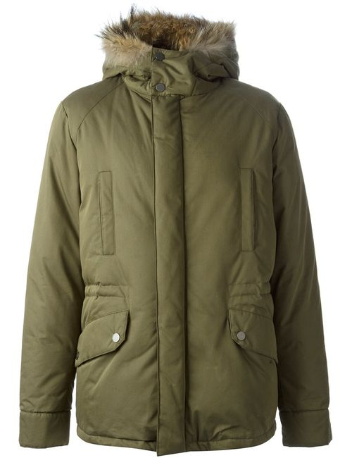 ARMY YVES SALOMON | Мужское Зелёный Trimmed Hood Padded Jacket