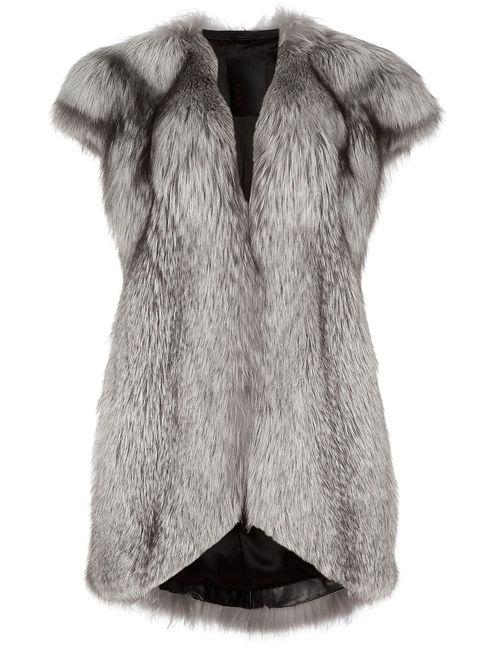 Liska | Женское Серый Fox Fur Gilet