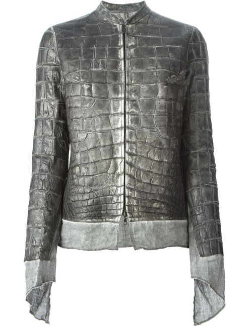 Isaac Sellam Experience | Женское Серый Alligator Leather Jacket