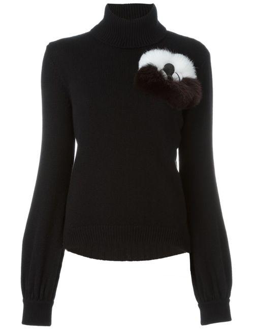 Fendi | Женское Чёрный Fur Appliqué Jumper