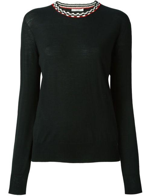 Céline   Женское Чёрный Neck Detail Sweater