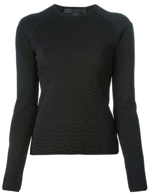 Alexander Wang | Женское Чёрный Zigzag Stitched Sweater