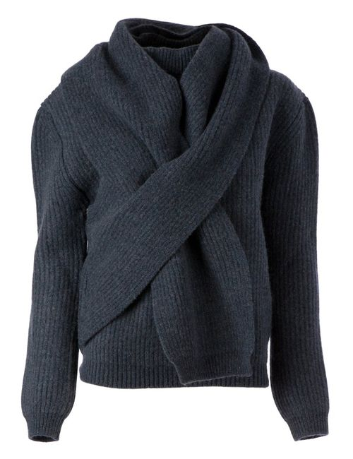 Balenciaga | Женское Синий Scarf Detail Sweater