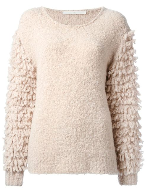 Thakoon Addition | Женское Розовый Textured Knit Sleeves Sweater