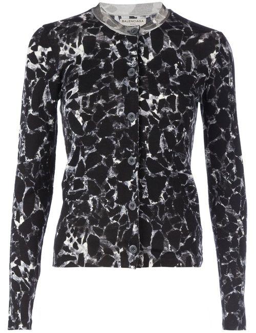 Balenciaga | Женское Чёрный Marble Print Cardigan