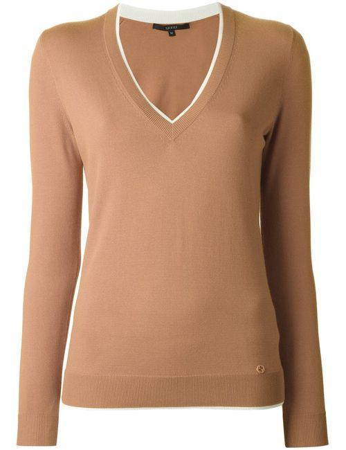 Gucci   Женское Коричневый V-Neck Sweater