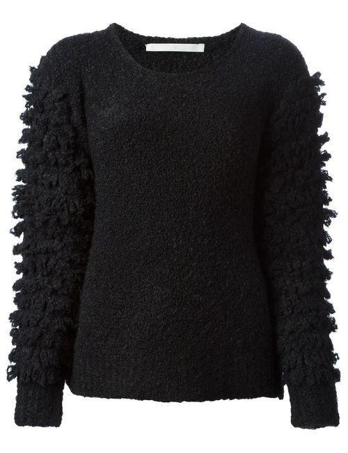 Thakoon Addition | Женское Чёрный Textured Sleeve Sweater