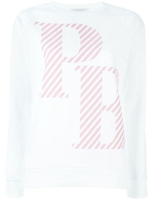 Pierre Balmain | Женская Белая Толстовка С Принтом-Логотипом
