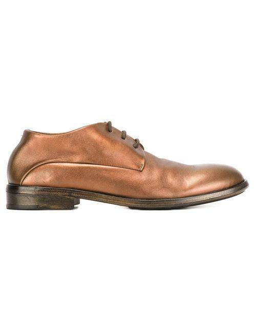 Marsell | Женские Серебристые Туфли На Шнуровке С Эффектом Металлик