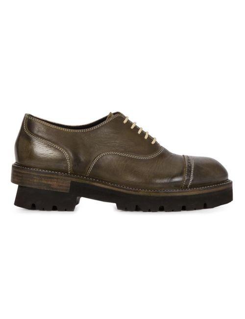 MIHARA YASUHIRO | Мужские Зелёные Туфли Оксфорды На Резиновой Подошве