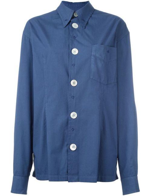 Dolce & Gabbana | Женская Синяя Рубашка С Вышивкой