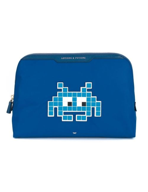Anya Hindmarch | Женская Синяя Косметичка Space Invaders