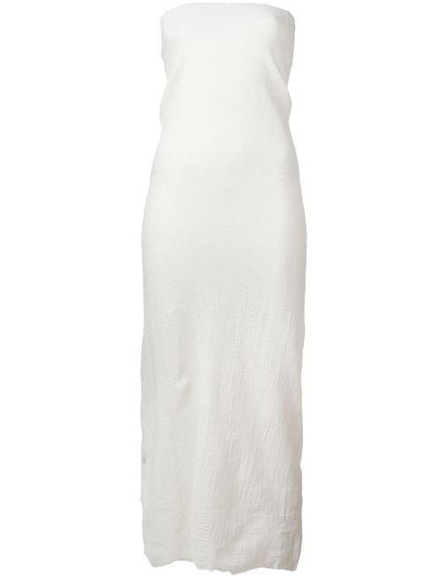 Marc Le Bihan | Женское Белое Платье Без Бретелек