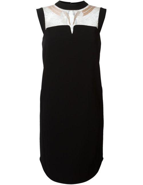 MAME | Женское Черный Платье С Кружевной Вставкой