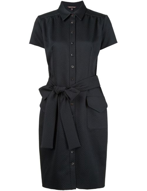 Sophie Theallet | Женское Чёрное Платье-Рубашка С Поясом