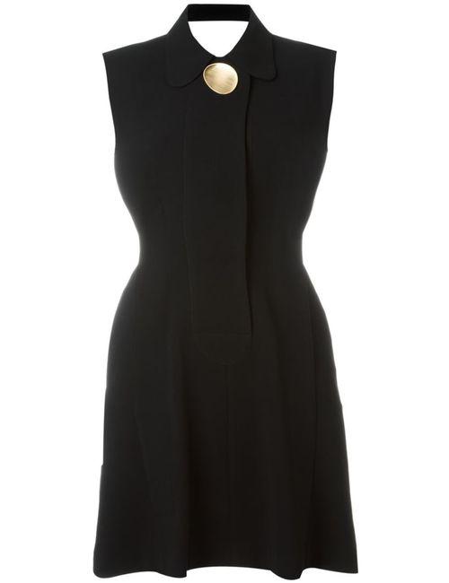 Opening Ceremony | Женское Чёрное Расклешенное Платье С Открытой Спиной
