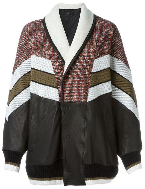 Drome | Женская Многоцветная Свободная Куртка С Полосками