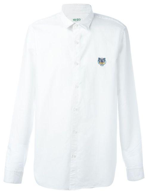 Kenzo | Мужская Белая Рубашка Mini Tiger