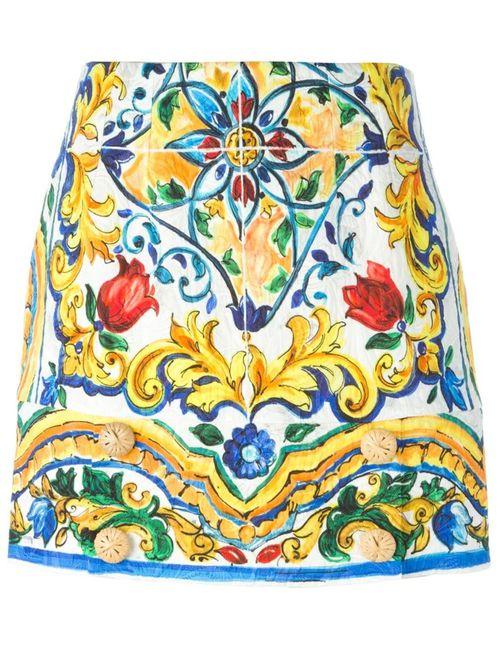Dolce & Gabbana | Женское Многоцветный Majolica Print Brocade Mini Skirt