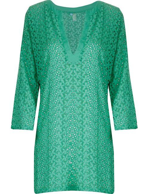Sub   Женское Зелёный V Neck Beach Dress