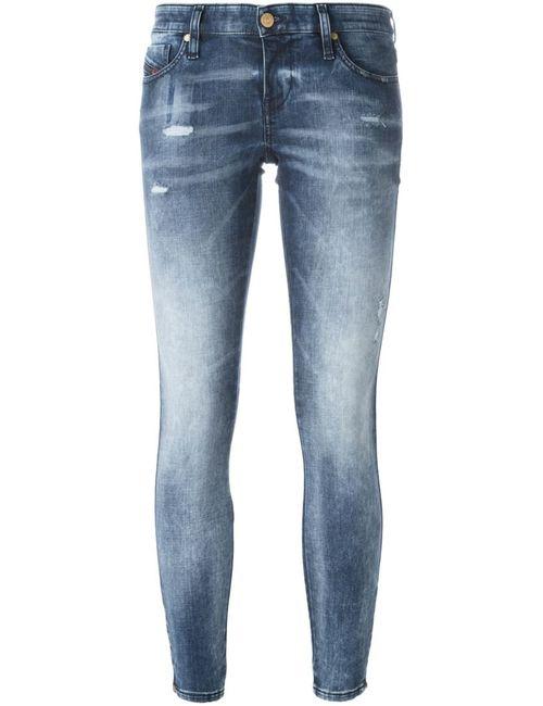 Diesel | Женское Синий Distressed Skinny Jeans