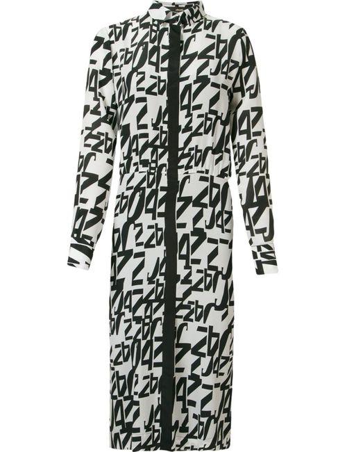 ANDREA MARQUES | Женское Чёрный Midi Printed Shirt Dress