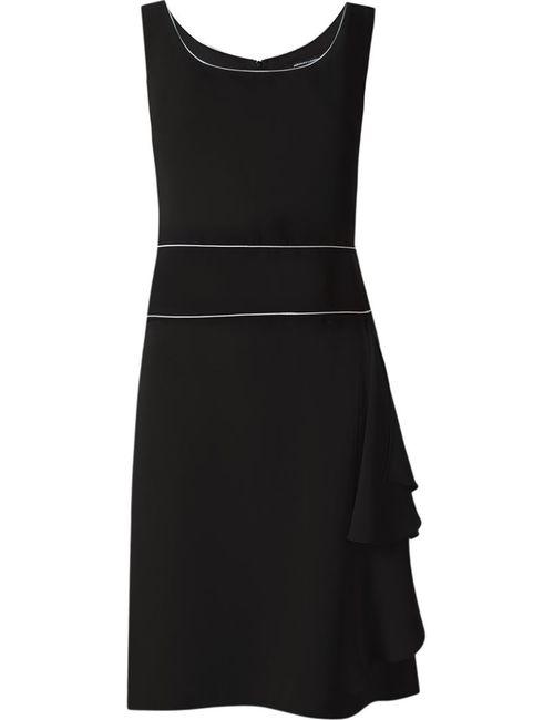 Reinaldo Lourenço | Женское Чёрный Square Neck Pleated Dress