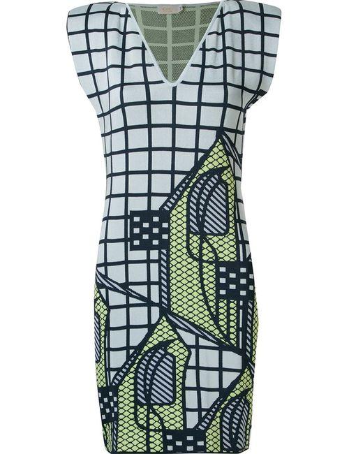 Gig | Женское Синий V-Neck Knit Dress