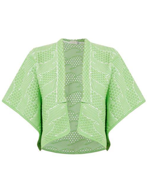 Gig | Женское Зелёный Knit Jacquard Coat
