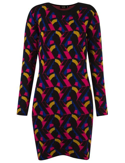 Gig | Женское Черный Geometric Knit Dress