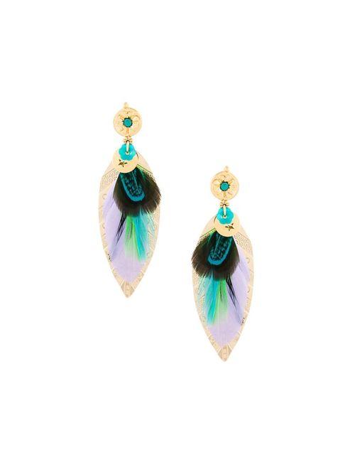GAS BIJOUX | Женское Серебристый Large Sao Feather Earrings