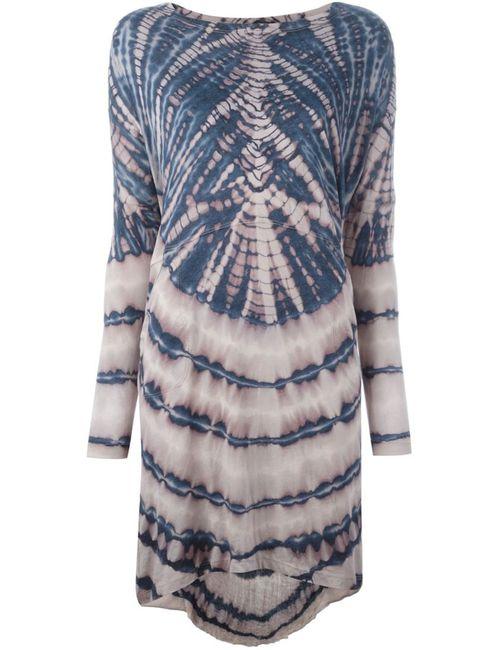 Raquel Allegra   Женское Синий Oversized Tie-Dye Print Dress