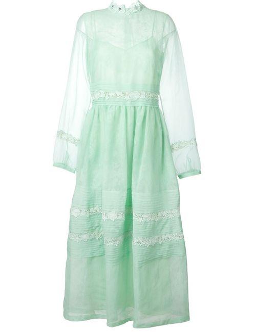 Rochas | Женское Зелёный Sheer Layered Dress